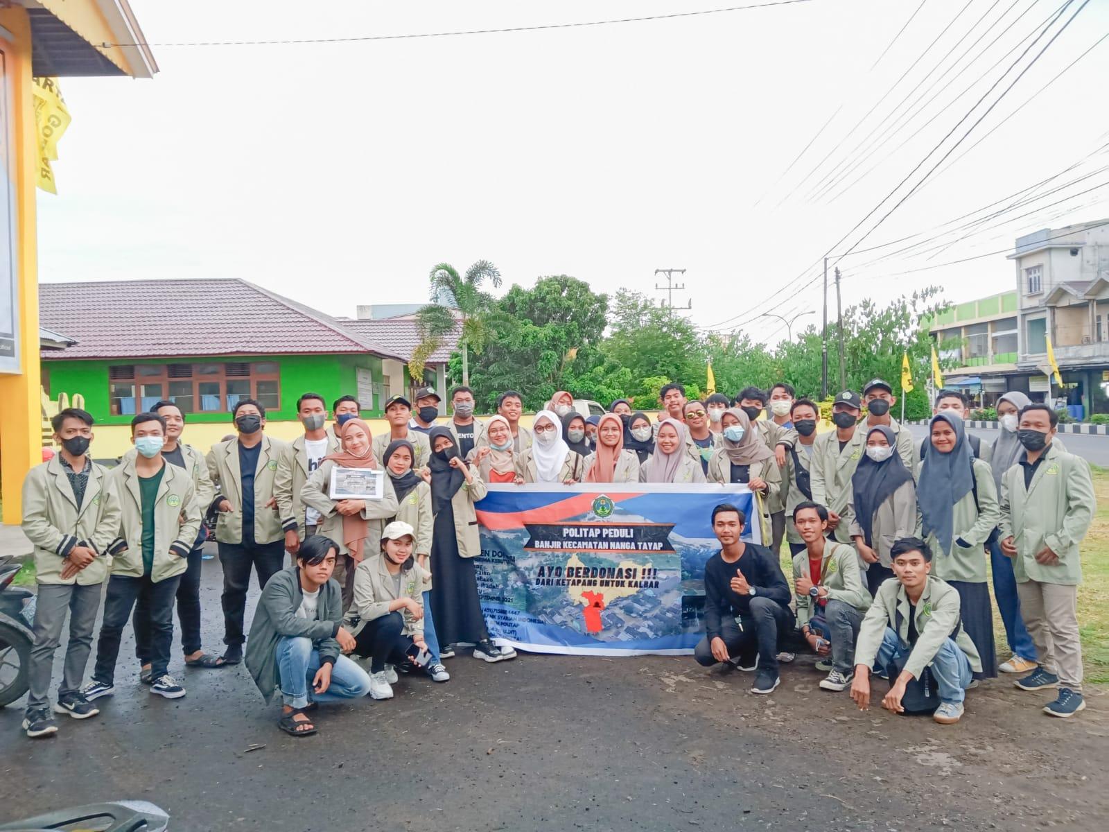 Ormawa Politap Peduli Bencana Banjir Nanga Tayap